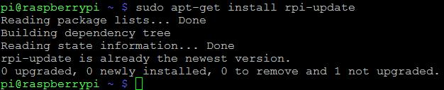 RaspberryPi Firmware ist aktuell